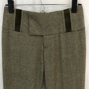 Slouchy Cool Alvin Valley Tweed Flare Trousers